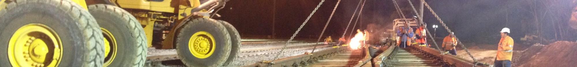 Rail Train by night